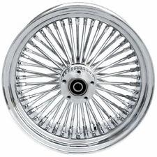 16 3.5 48 Fat Spoke Front Wheel Chrome Rim Single Disc Harley Softail Touring