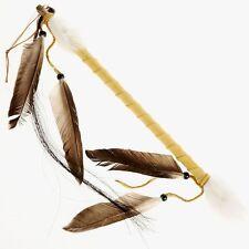 Ceremonial TALKING STICK Buckskin Leather Wrapped Artifact Made in USA