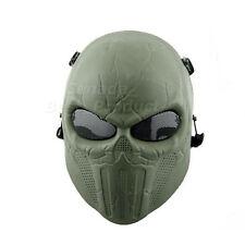 Tactical Military Skull Skeleton Full Face Mask Hunting Costume Green