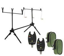 Carp Fishing Rod Pod , Alarms , Swingers ,Bite Alarms, 3 Rod Rests & Bag