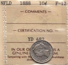 1888 Newfoundland 10 Cents - ICCS F-12