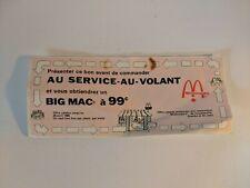 Vintage McDonalds Big Mac Coupon 1985 Cowansville Granby