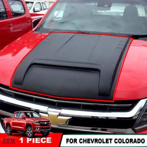 Fit 15+ Chevrolet Colorado Pickup Matte Black Hood Scoop Bonnet Cover simulator