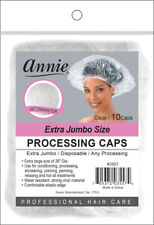 Annie Extra Jumbo Size Processing Caps Disposable Shower Clear 10pcs #3557