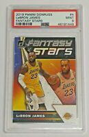 2019-20 Panini Donruss Fantasy All Stars PSA 9 Lebron James #4 Lakers