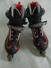 Blade Runner Advantage Mens Red and Gray Inline Skates Size 9