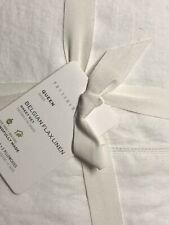 POTTERY BARN Belgian Flax Linen QUEEN Sheets 4 pc Set NEW - WHITE