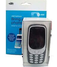 Nokia 3310 3G GSM Unlocked Cell Phone w/ AT&T SIM Card Kit Bundle