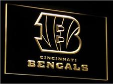 New Custom Cincinnati Bengals LED Neon Light Signs Bar Man Cave 7 colors u pick