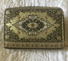 "Lovely Gold Multi Purse Small 2 Pockets In Side & Zip Pocket Approx 5"" X 3.1/2"""