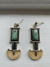 925 Sterling Silver artsy  Gemstone Women's Earring
