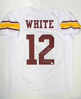 Charles White Heisman Autographed White W/ Maroon College Style Jersey- JSA Auth