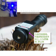 Focusable Waterproof 450nm Blue Laser Pointer LED Torch Powerful 450T-5000-18650
