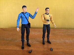 Star Trek Kirk and Spock Figures Art Asylum Diamond Select
