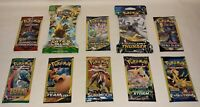 10 New Pokemon Packs Unweighed / 10 Card Packs & 3 Card Packs --> XY Evolutions