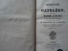MEMOIRES SUR NAPOLEON ,L'IMPERATRICE MARIE-LOUISE,-VEUVE DURAND-1828.