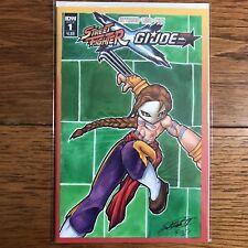 Street Fighter GI Joe Blank Variant. Custom Vega Art By Fuzzy