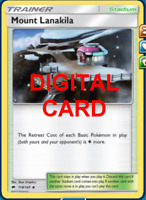 4X Mount Lanakila 118/147 Pokemon Online Card TCG PTCGO Digital Card