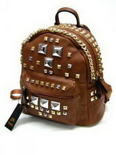 Designer Beutel,Tasche im aktuellen Design, Rucksack,  Backpack, Braun Metall
