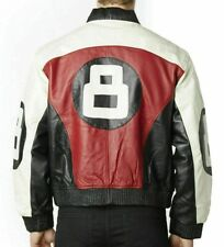 8 Ball Bomber Genuine Leather Jacket All Sizes