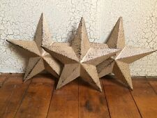 "(Set of 3) RUSTIC BLACK BARN STAR 5.5"" 5 1/2"" PRIMITIVE COUNTRY FARMHOUSE DECOR"