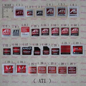 NVIDIA ATI Graphics sticker + OS System Sticker + intel CPU i3 i5 i7 Sticker