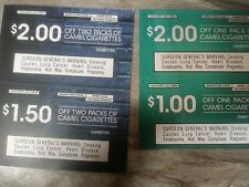 CAMEL COUPONS $6.50 TOTAL EXP 10/2020 and 11/2020