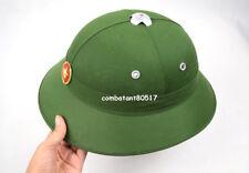 Vietnam War Hat Nva Vietcong VC Pith Helmet Green W Badge