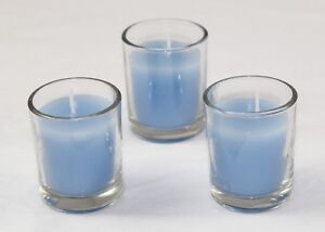 10 Boy Event Party Decoration Ocean Sea Blue Votive Wax Candle 6cm 10 hour burn