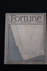 RARE VINTAGE 13TH ISSUE MARCH 1931 FORTUNE MAGAZINE