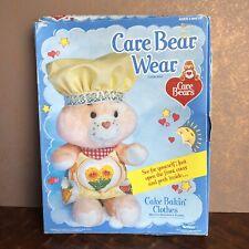 Kenner 1985 Mib Care Bear Wear Cake Bakin' Clothes for Care Bear Vtg Nos
