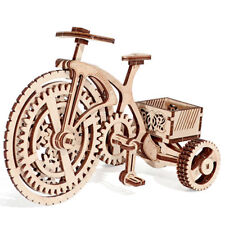 Wood Trick BICYCLE Bike Model 3D Wood Puzzle Mechanical Toy Assembly, US Seller