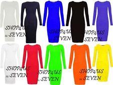 Unbranded Scoop Neck Viscose Stretch, Bodycon Women's Dresses