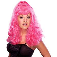 Pink Spice Girl Wig Sexy Women Adult Halloween Costume Accessory