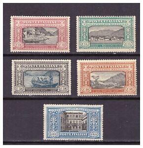 FRANCOBOLLI Italia Regno 1923 - Manzoni Serie 5 Valori senza colla SAS151-155 §