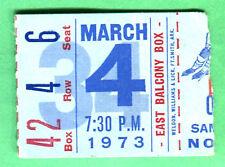 SCARCE WHA HOCKEY TICKET STUB! 3/4/73 QUEBEC NORDIQUES/HOUSTON AEROS