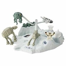 Star Wars Hot Wheels Hoth Echo Base Battle Playset Toys At-at Spaceship Snow