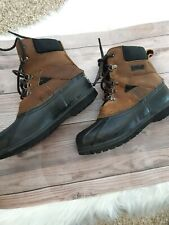 LL Bean Duck Boots Womens Size 6M US Tan Leather with Primaloft Insulation