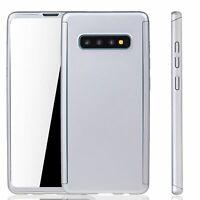 Samsung Galaxy S10 Étui Coque pour Portable Housse Sac Étuis Film Blindé Argent