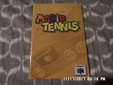 Mario Tennis (Nintendo 64) Instruction Manual Booklet Only... NO GAME