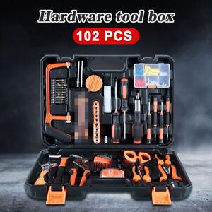 102PC DIY Hand Tool Set Household Daily Maintenance Car Repair Hardware Tool Kit
