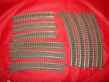 10 RAILS COURBES  PROFI FLEISCHMANN HO TRAIN ELECTRIQUE 6120 6138 6133