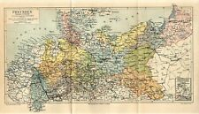 1888 GERMANY PRUSSIA BERLIN DANZIG KONIGSBERG POLAND RUSSIA Fold Out Map dated