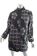 KOOS Van Den Akker NY Black Floral Wool Blend Multi Satin Reversible Jacket  OS