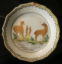 Ancienne assiette en faience de Nevers