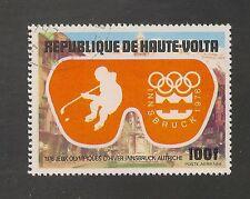 Burkina Faso #C225 (A122) VF USED - 1975 100fr Ice Hockey & Olympic Emblem