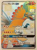 Ho-Oh SHINY FULL-ART GX Hidden Fates - ULTRA RARE SV50/SV94 Pokemon Card