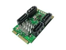 IOCrest SATA Card Mini PCI-Express to 4-port SATA 3.0 6Gb/s Host Controller Card