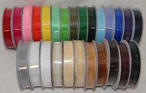 Sheer Organza Ribbon 25 Yard 5/8 Wide 24 Assorted Colors! Great for favors gifts