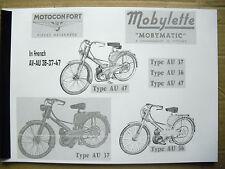 Mobylette/Moped/AV36/AV37/AV47/In French/ Parts Book With Exploded Diagrams